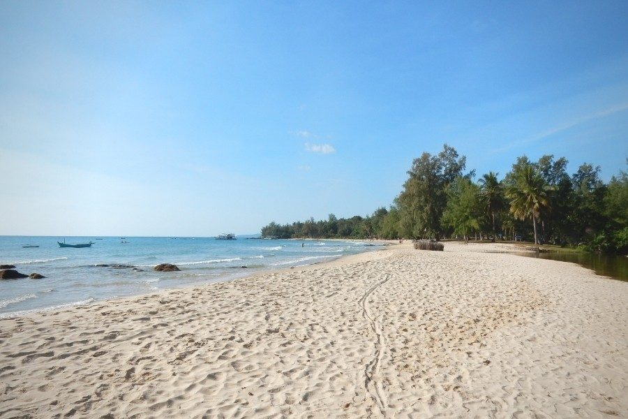 Tropical Ong Lang Beach in Phu Quoc island