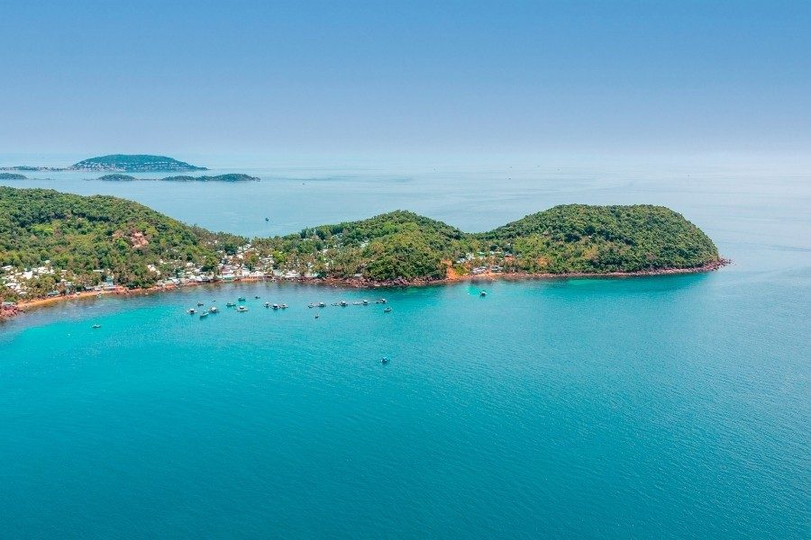 Above view on An Thoi Islands or Archipelago in Phu Quoc