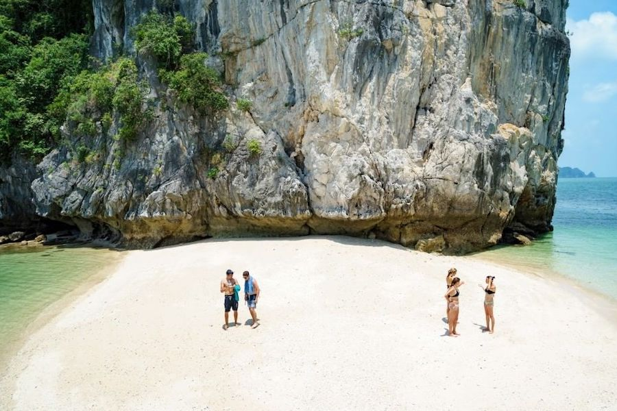 Three Peaches Islets are perfect place for sunbathing