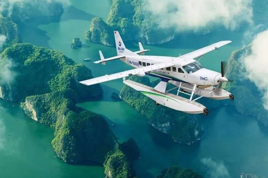 Views of Halong Bay by seaplane