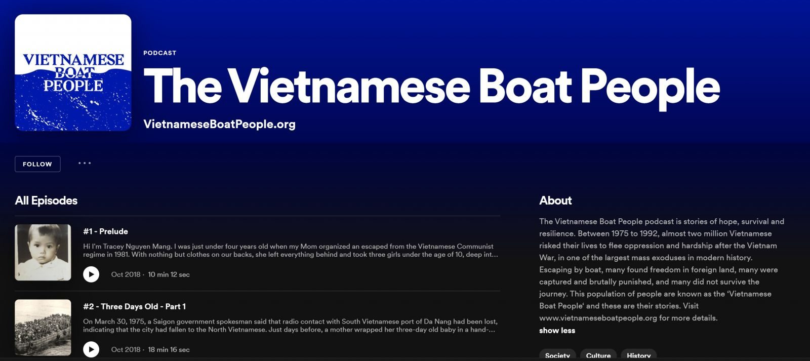 The Vietnamese Boat People podcast