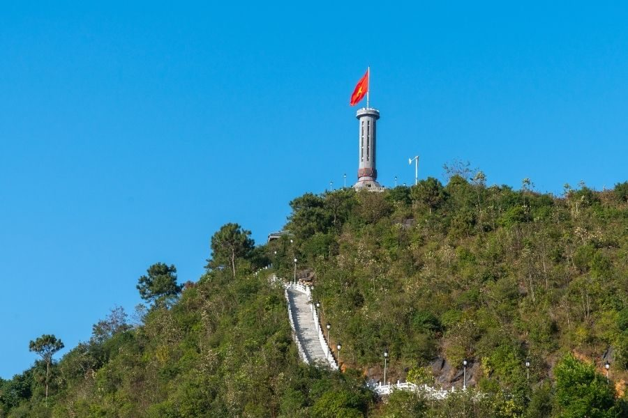 Lung Cu flag tower, the northernmost pole of Vietnam in Ha Giang