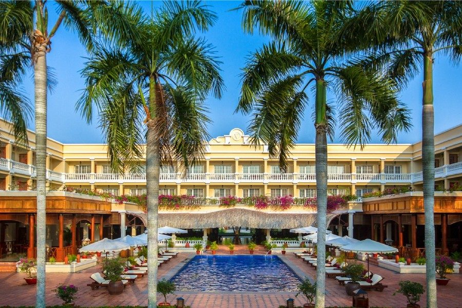 The front view of the Victoria resort