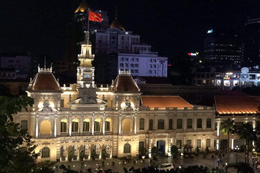The iconic City Hall and Nguyen Hue Street