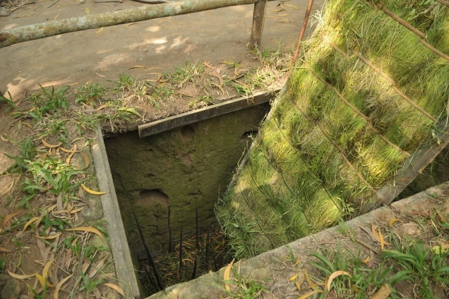 Trap used during Vietnam war at Cu Chi Tunnel.