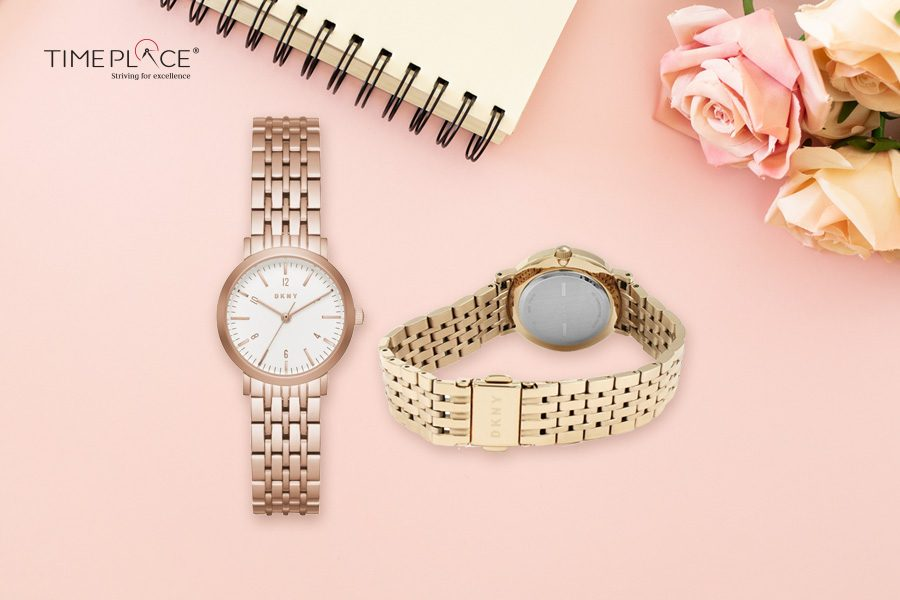 Ladies, grace your wrist with this DKNY stainless steel casual watch!