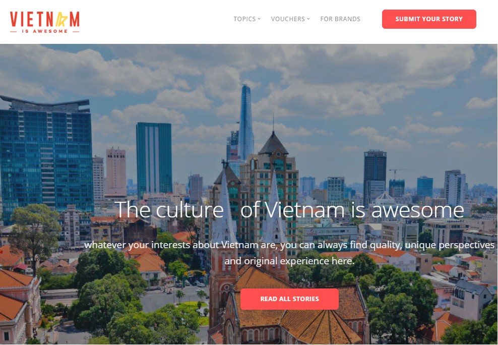 Vietnam Is Awesome launches story sharing platform!