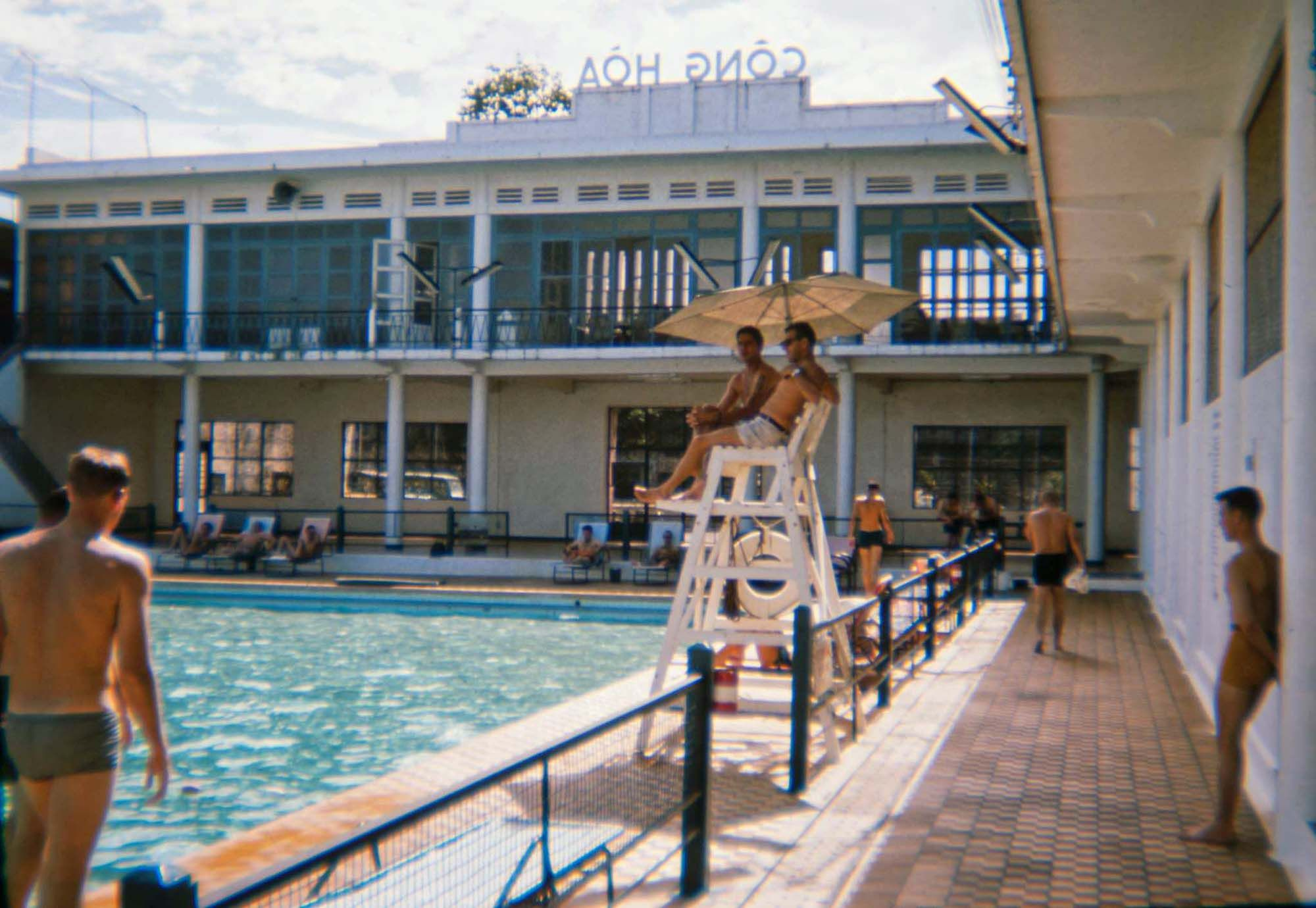 Getting Cool at the Cong Hoa Swimming Pool in 1965 with Photos