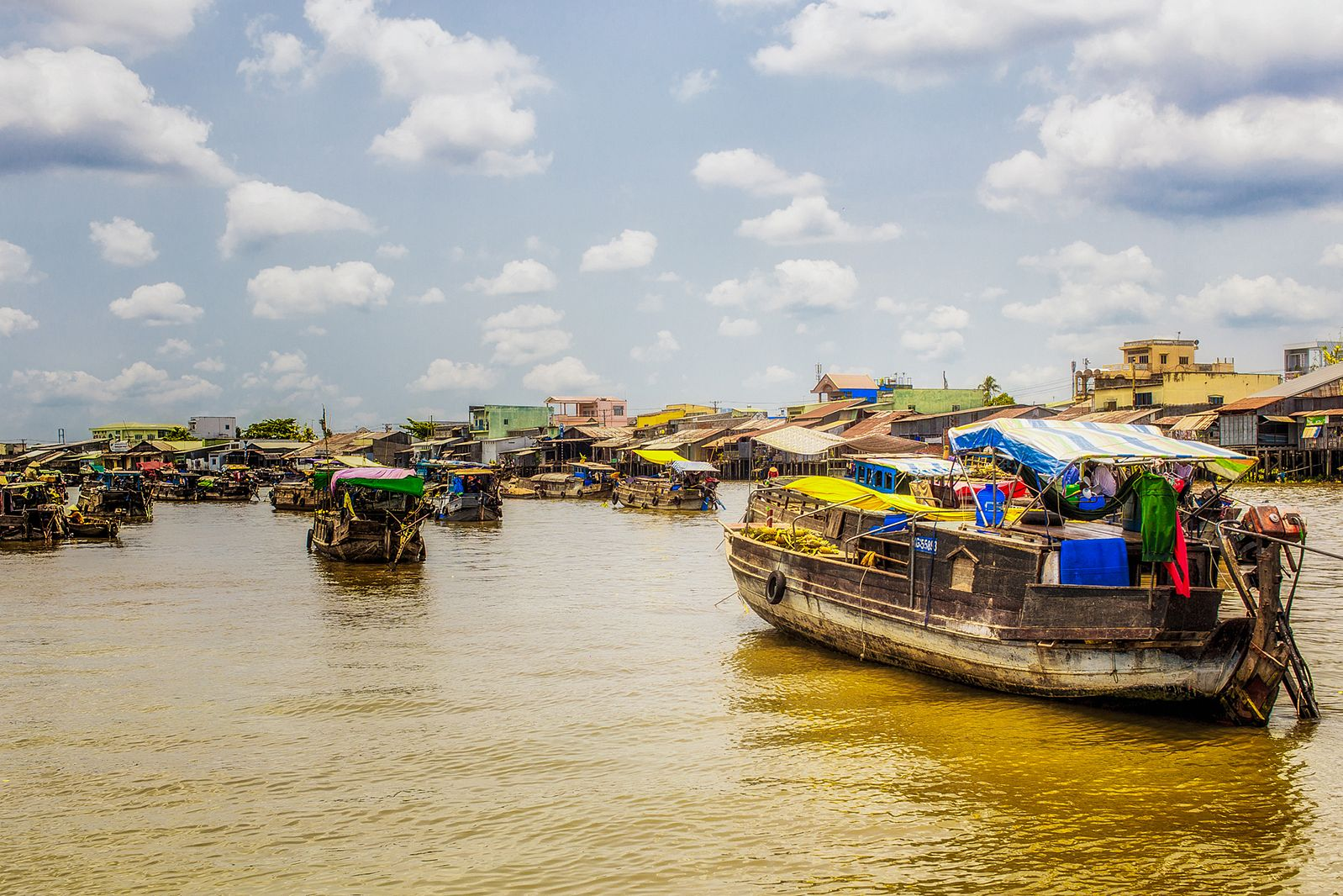 The Mekong Delta is just 0.8 m above sea level
