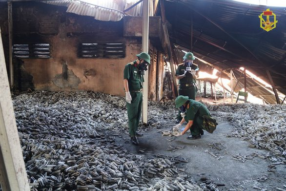 Mercury was discovered after leakage from fire in Hanoi